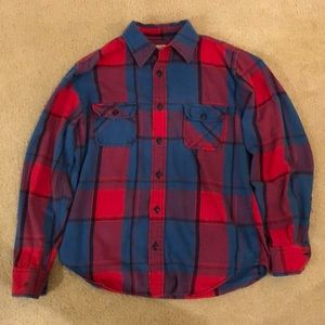 Arizona Jean Co. Medium Red and Blue Flannel
